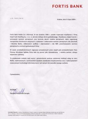 Fortis Bank referencja